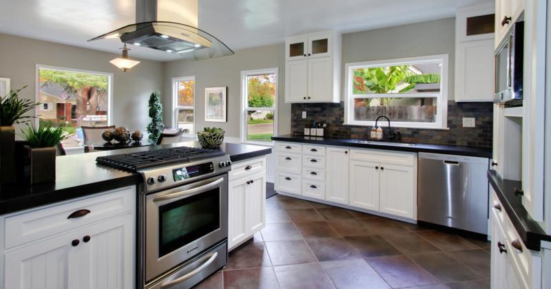 Black honed granite kitchen ideas