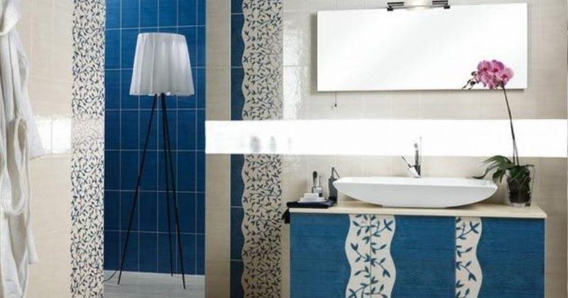 Blue and grey small bathroom ideas