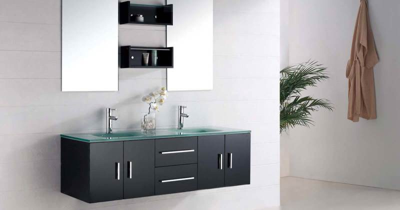 Futuristic bathroom cabinets