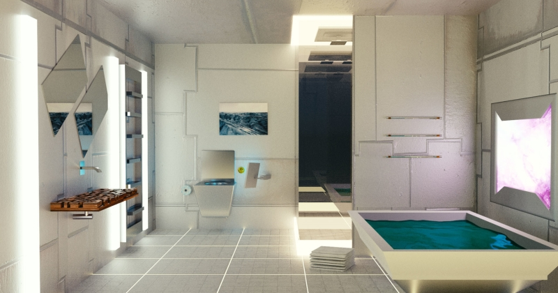 Futuristic bathroom design ideas