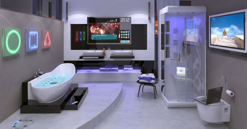 Futuristic bathroom modern design