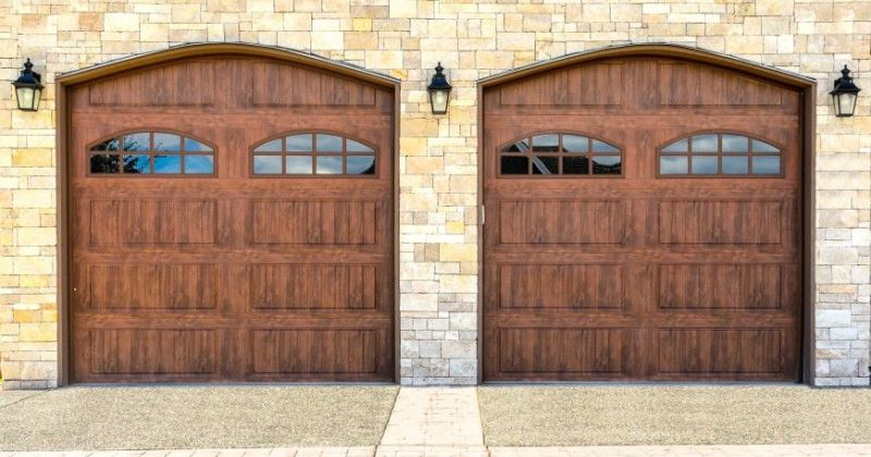 Garage door design ideas wood