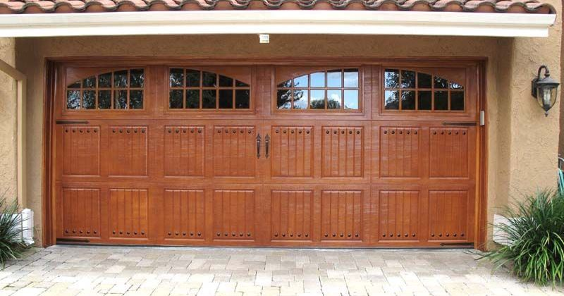 Garage door design wood