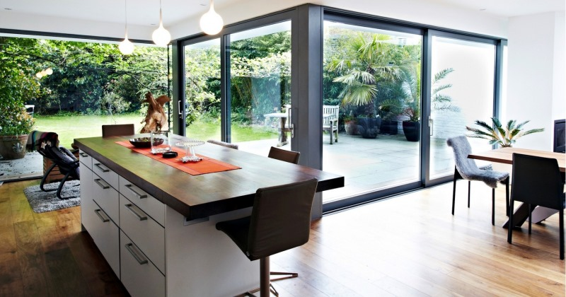 Glass kitchen extensions design ideas