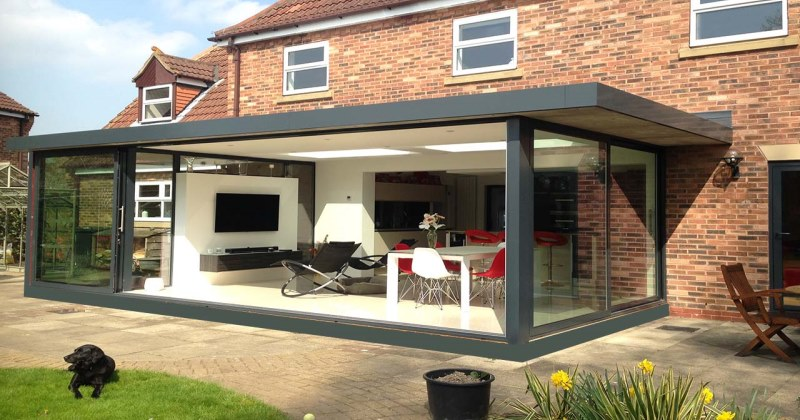 Glass kitchen extensions images