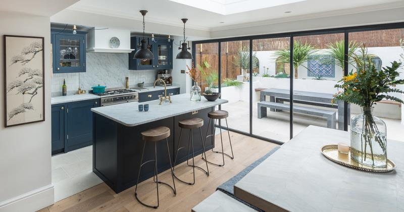 Glass kitchen extensions uk