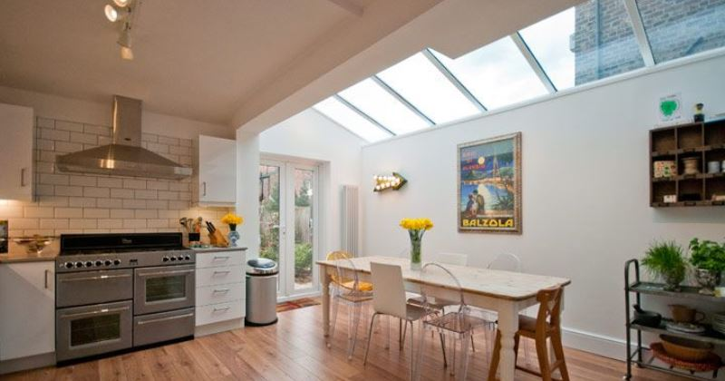Glass roofs for kitchen extensions