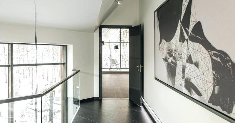 Hallway metal wall art