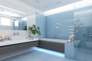 How Beat Tiny Blue Bathrooms