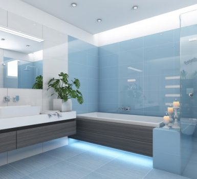 How Beat Tiny Blue Bathrooms