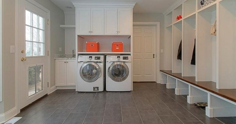 Ideas for mudroom laundry room