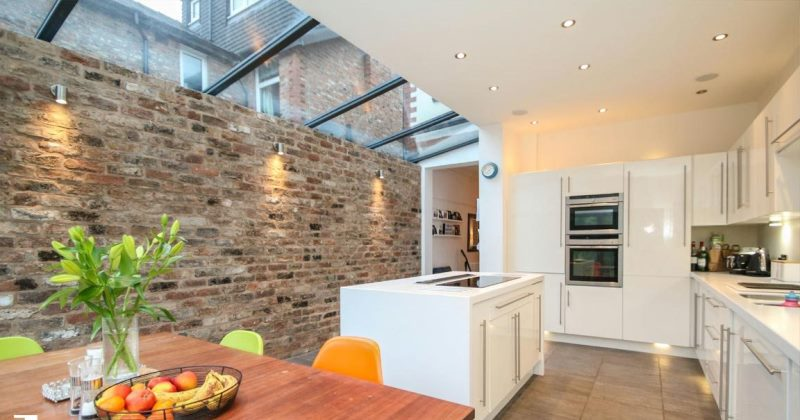 Kitchen extensions with glass roofs