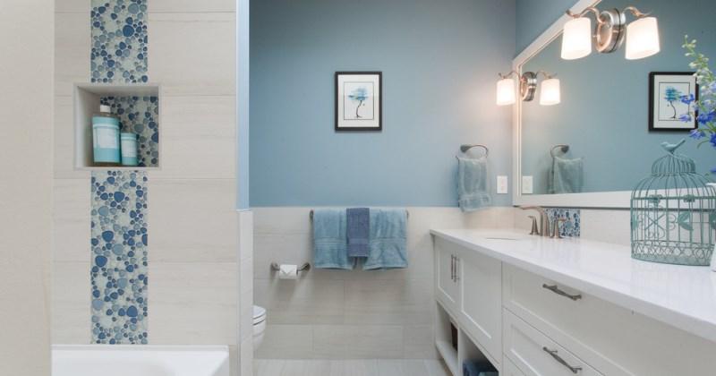 Light blue small bathroom ideas