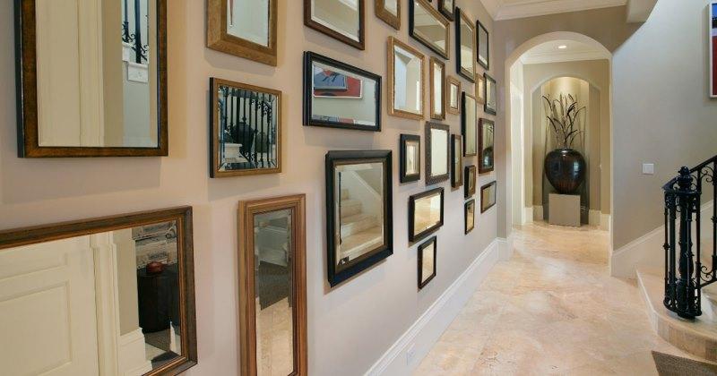 Long hallway wall art