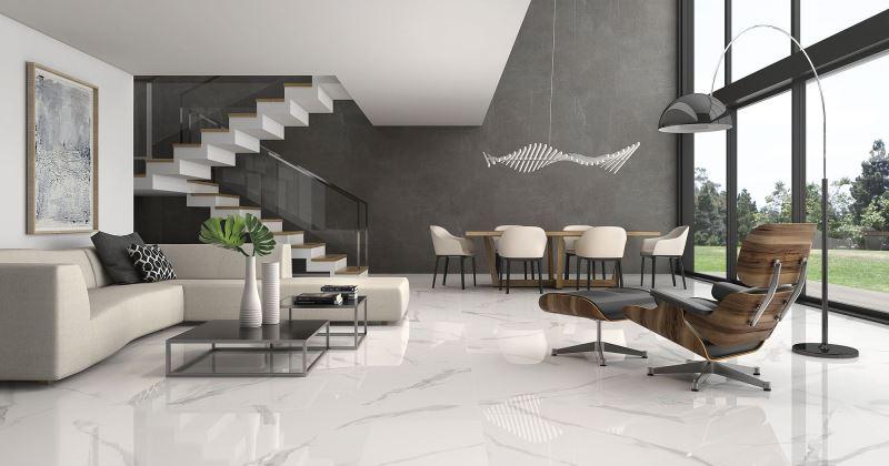 Marble tile living room ideas