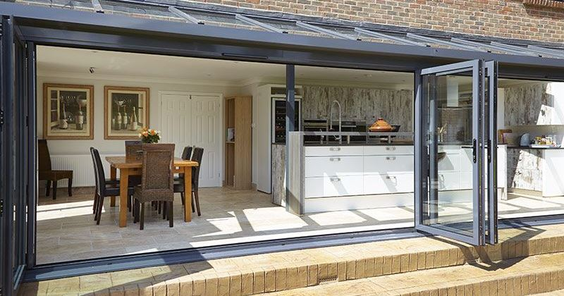 Modern glass kitchen extensions