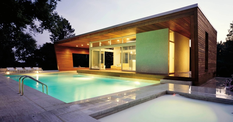 Modern house plans with pool