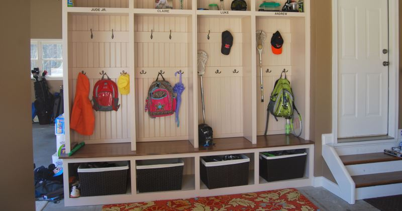 Mudroom ideas for garage