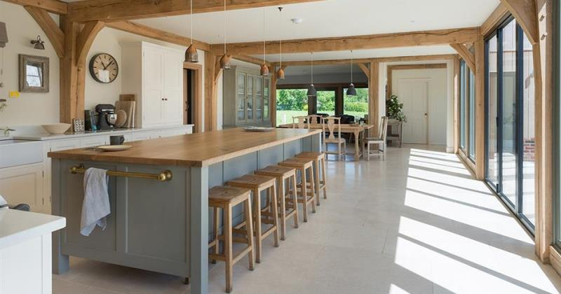 Oak and glass kitchen extensions