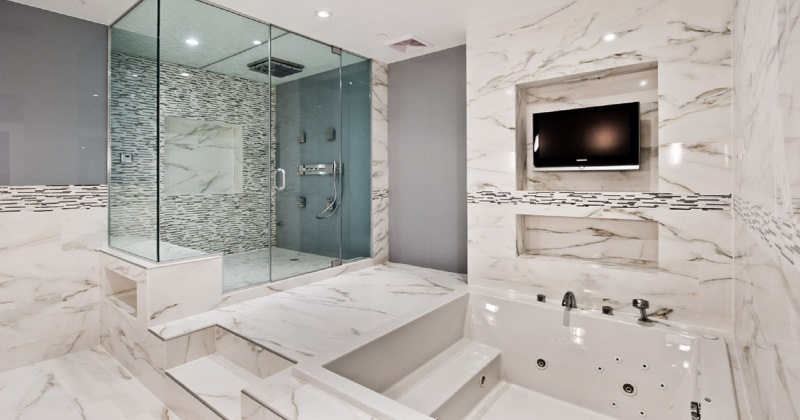 Small bathroom marble tile ideas