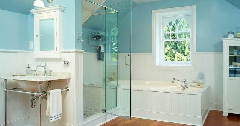 Small blue bathroom decorating ideas