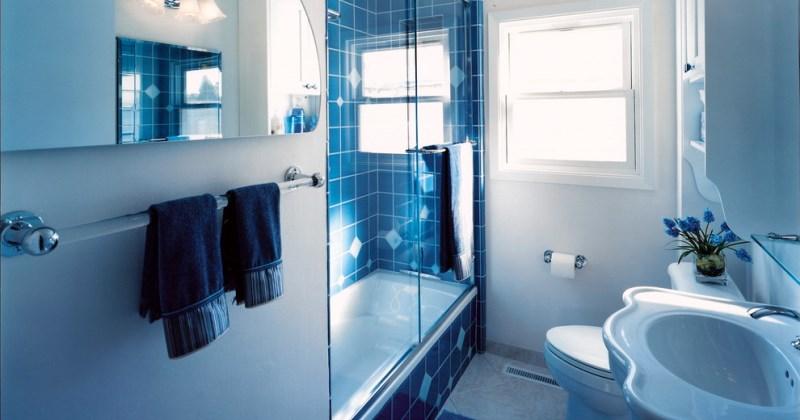 Small blue bathroom designs