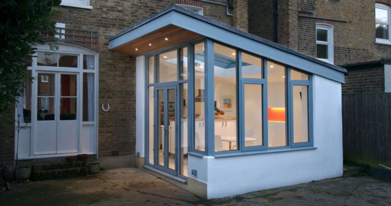 Small glass kitchen extensions