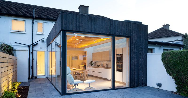 Timber and glass kitchen extensions