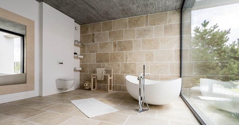 Travertine bathroom flooring ideas