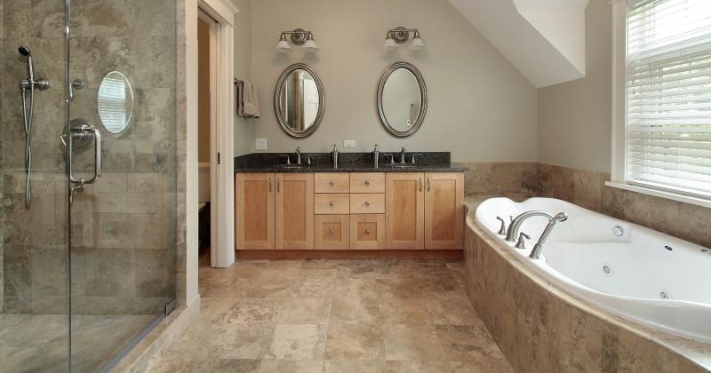 Travertine for bathroom floor