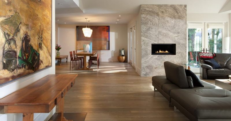 Travertine tile living room pictures