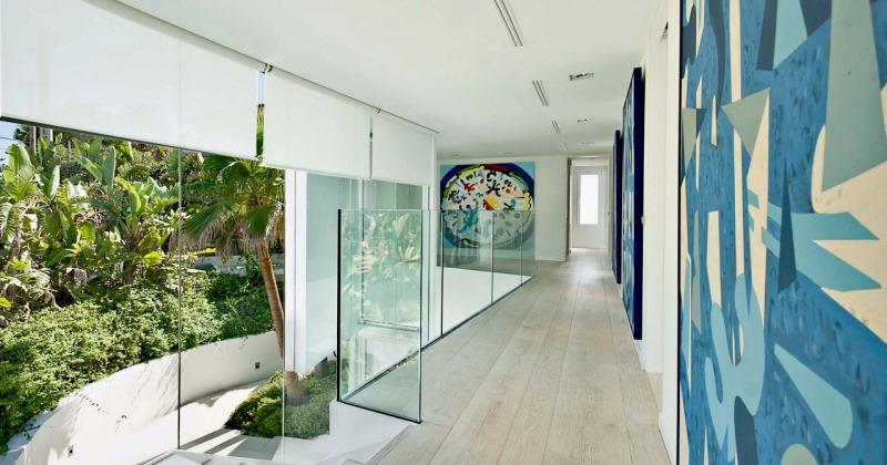 Wall art for narrow hallway