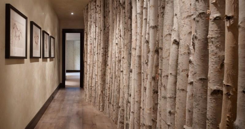 Wall art in hallway