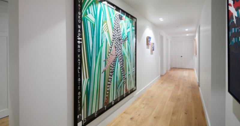 Wall art of hallway
