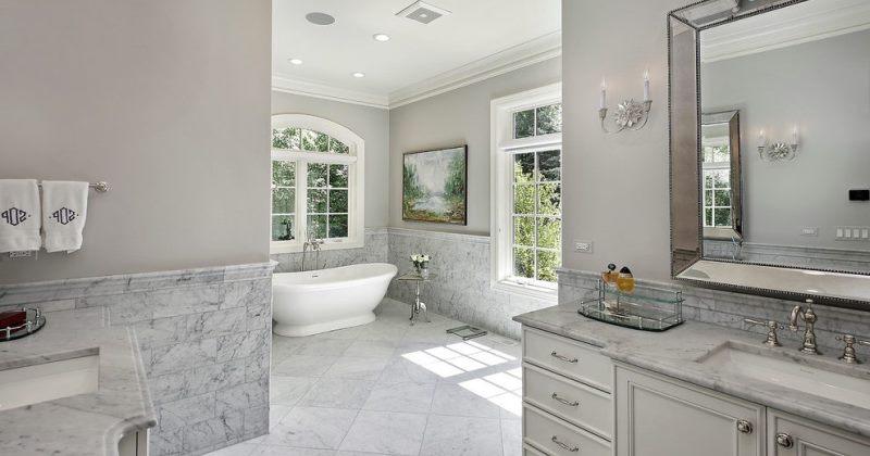 White marble tile shower ideas
