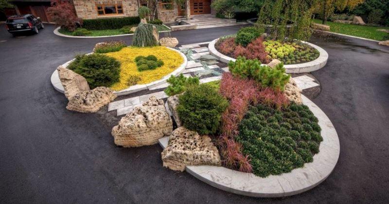 Driveway landscape design ideas