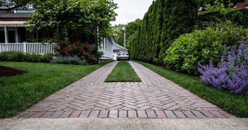 Driveway landscape design