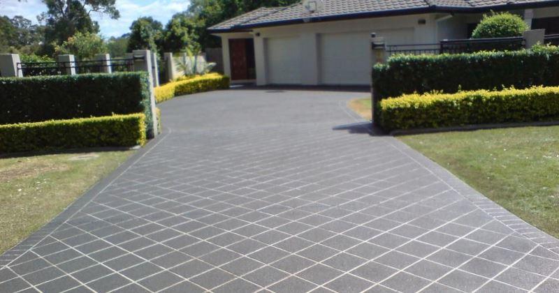 Driveway tiles design