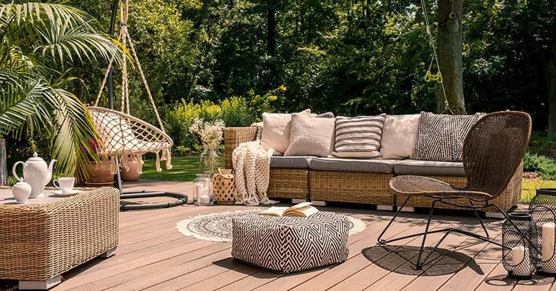 Garden decking area ideas