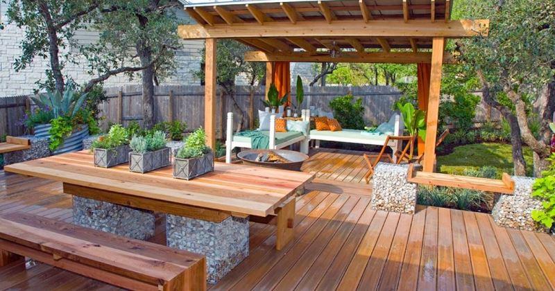 Garden decking decorating ideas