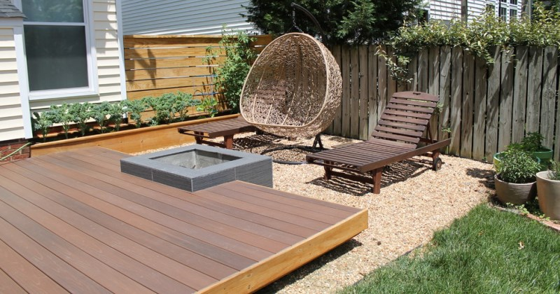 Garden decking ideas photos
