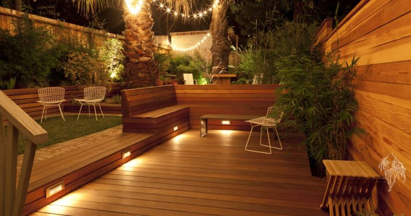 Garden decking lighting ideas