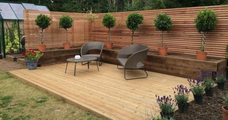 Garden ideas with decking
