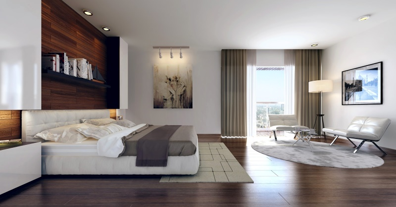 Hardwood floor bedroom ideas