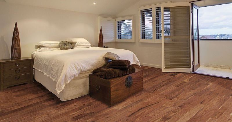 Wood flooring bedroom ideas