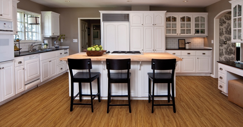 Wood flooring ideas for kitchen