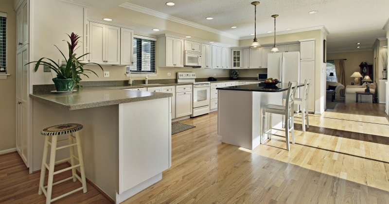 Wood flooring kitchen ideas