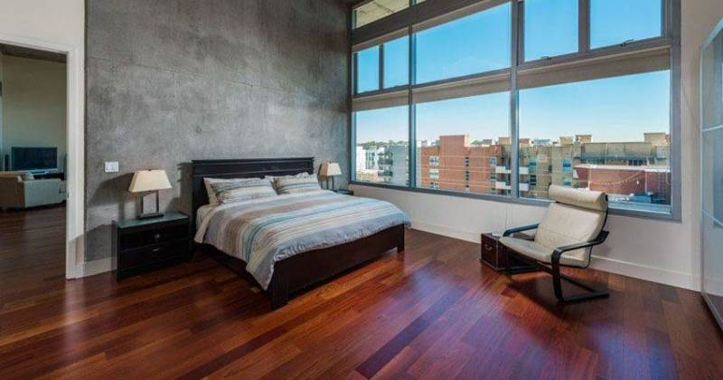 Wooden floor bedroom ideas