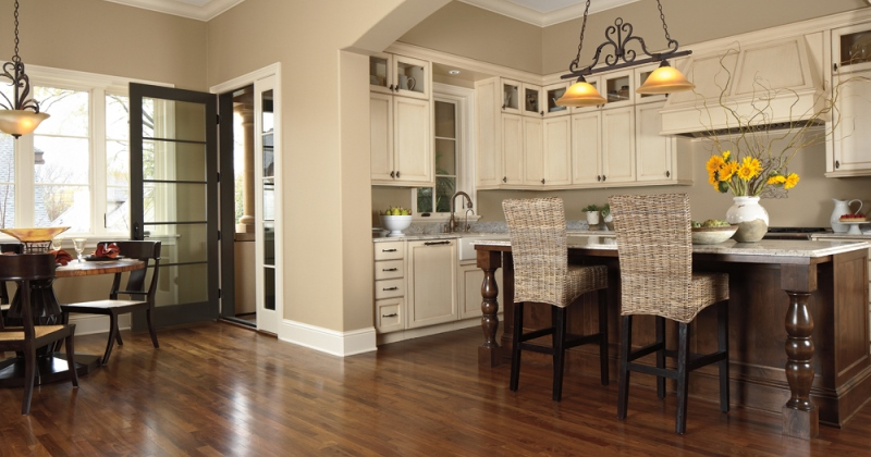 Wooden floor kitchen ideas